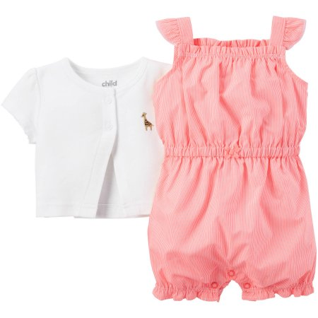 3cd8a29de9d8 Child of Mine made by Carter's Newborn Baby Girl Romper and Cardigan Outfit  Set 2 Pieces - Sudaniz Baby World