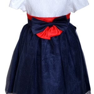 Toddler Girl's Dress With Lace Upper Bodice