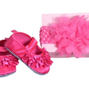Baby Girl Shoe And Hairband Accessory
