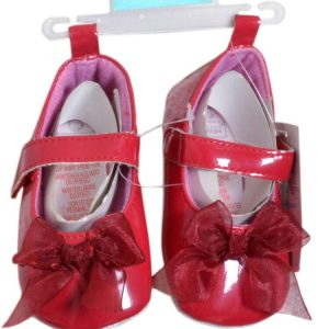 Baby Girl Pre -Walker Shoe With Bow ,Red