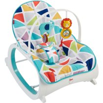 Fisher-Price Infant-To-Toddler Rocker, Green with Removable Toy Bar