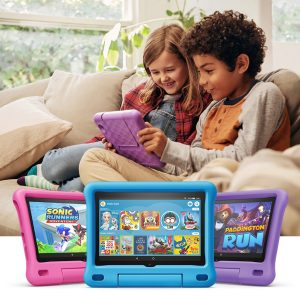 """All-new Fire HD 8 Kids Edition tablet, 8"""" HD display, 32 GB, Blue,Pink and Purple Kid-Proof Case"""