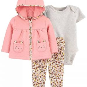 Carter's 3-Piece Quilted Little Cardigan Set